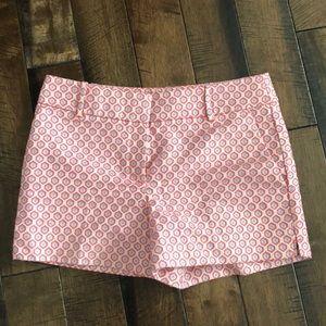 Loft patterned shorts, size 6